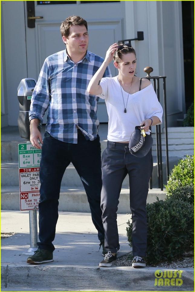 EXCLUSIVE: Kristen Stewart seen leaving Gracias Madre restaurant in LA