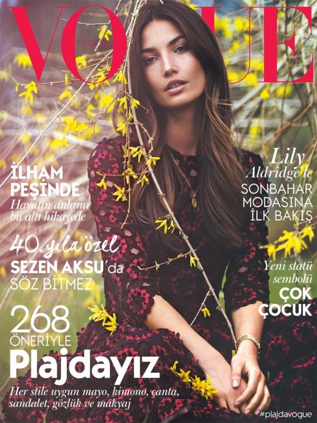 Лили Олдридж на обложке Vogue Турция, июль 2015
