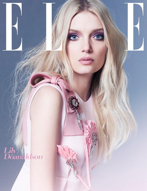 Лили Дональдсон на обложке Elle UK, август 2015