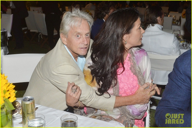 *EXCLUSIVE* Michael Douglas and Catherine Zeta Jones attend Natalie Imbruglia's Gala Dinner Concert **USA ONLY**