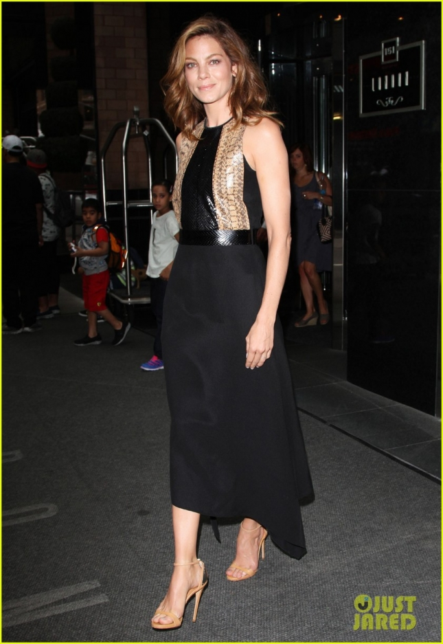 Michelle Monaghan looks stunning as she exits from 'The View' **USA ONLY**