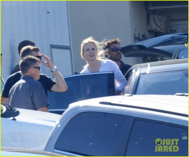 Nicole Kidman filming a commercial shoot