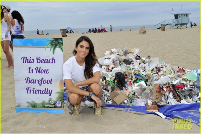 Nikki Reed supports the Barefoot Wine Beach Rescue Project at the Santa Monica Pier