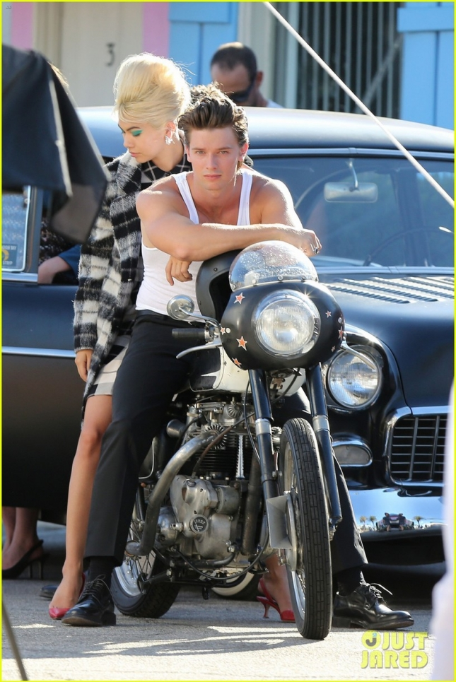 EXCLUSIVE: Patrick Schwarzenegger seen during a photo shoot in LA