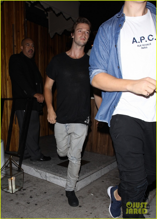 Patrick Schwarzenegger leaves The Nice Guy with a mystery girl **NO Australia, New Zealand**