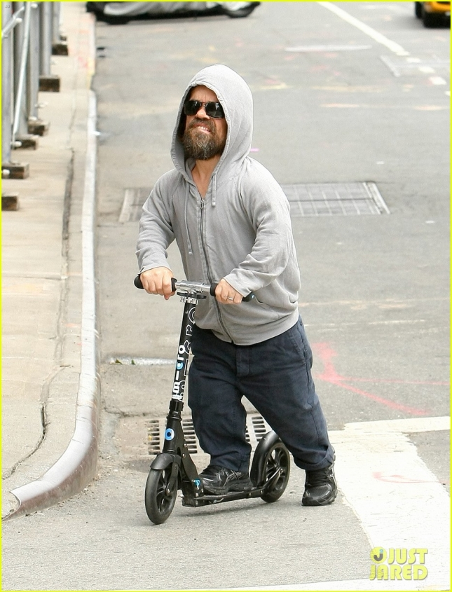 Peter Dinklage Rides On A Scooter In NYC