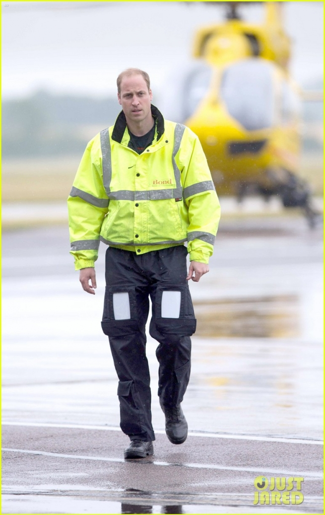 Prince William begins new job with East Anglian Air Ambulance **USA ONLY**