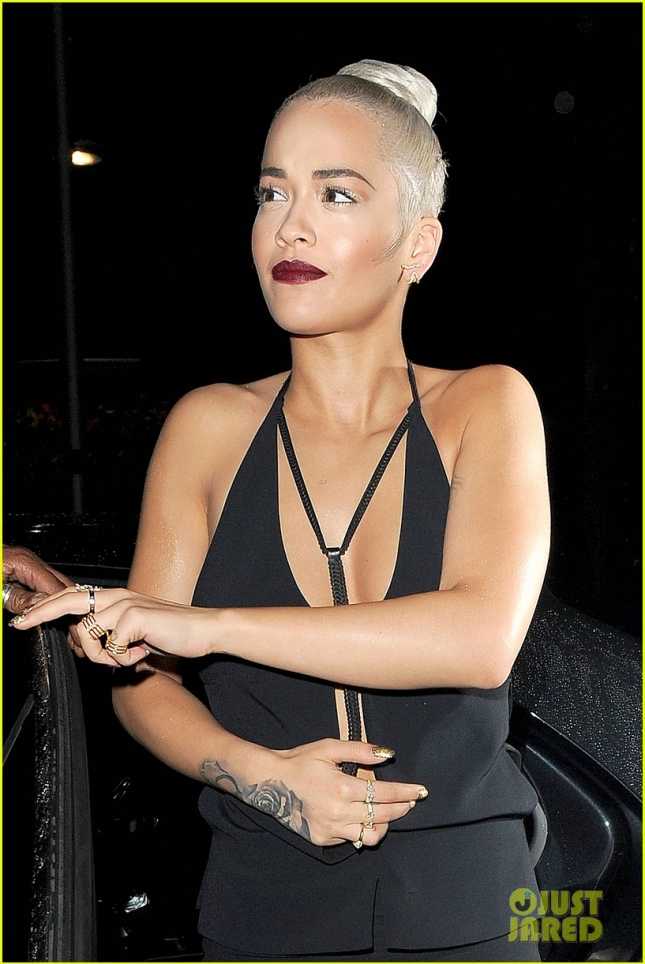 A sultry Rita Ora arrives at the Sony Music VIP Summer Party **USA ONLY**