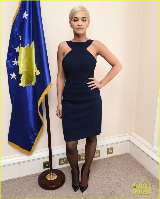 Rita Ora is awarded Honory Ambassador of Kosovo **USA ONLY**