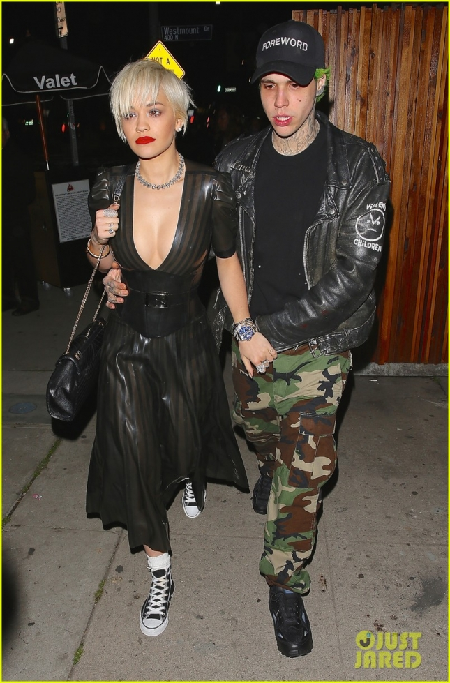 Rita Ora and boyfriend Ricky Hilfiger leaving The Nice Guys at 2AM