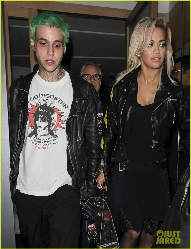Rita Ora and Ricky Hilfiger join Tommy Hilfiger for dinner at Nobu restaurant in Mayfair