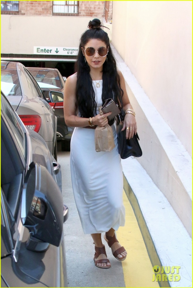 Vanessa Hudgens stops at the doctor's for a quick shot