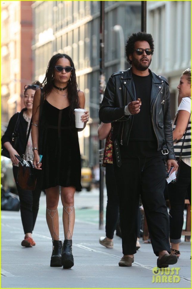 Zoe Kravitz seen in New York with George Lewis Jnr in NYC