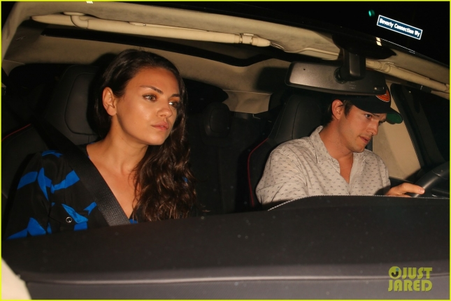 Ashton Kutcher and Mila Kunis celebrate her birthday at Toca Madera