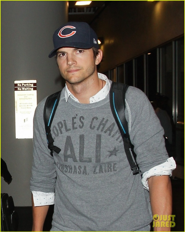 Ashton Kutcher Arrives At LAX Airport