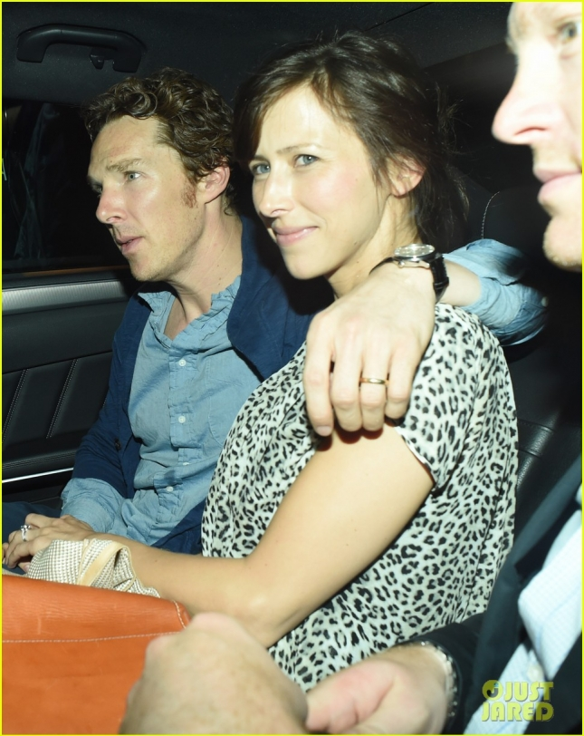 Benedict Cumberbatch and Sophie Hunter out and about in London.