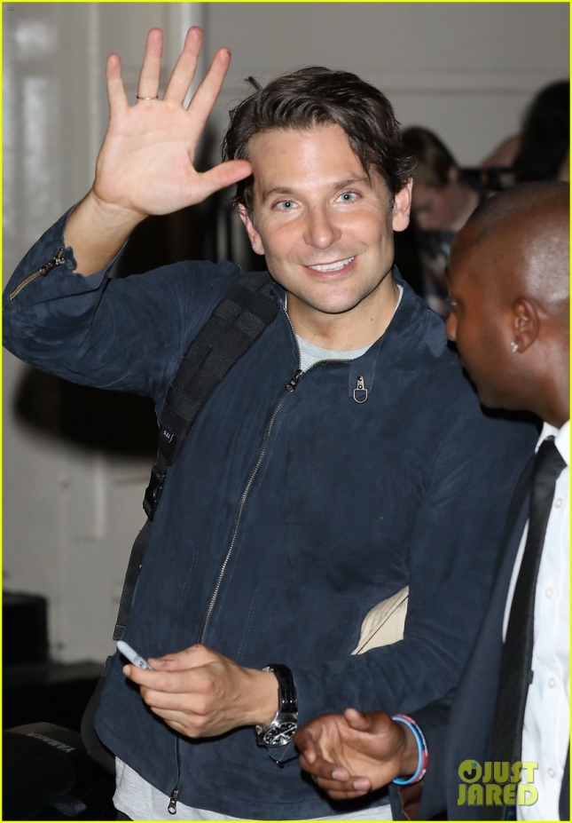 Bradley Cooper after his final performance of The Elephant Man in London