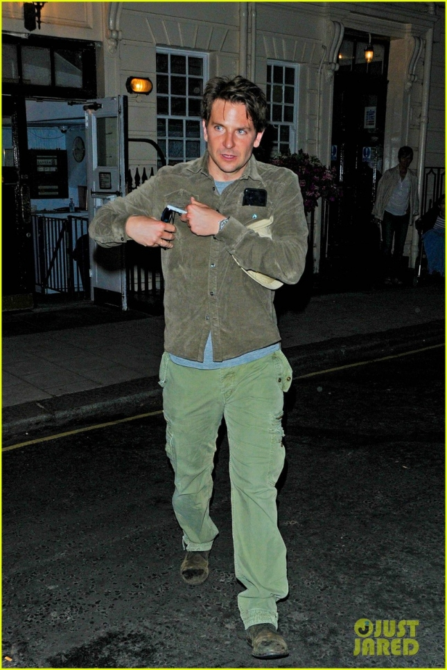 Bradley Cooper exits following a performance of 'The Elephant Man' **USA ONLY**