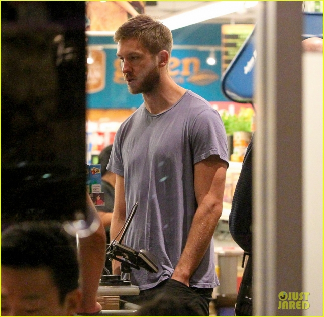 *EXCLUSIVE* Calvin Harris makes a late night Whole Foods grocery run
