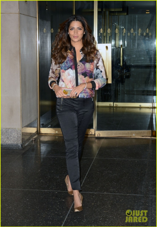 Camila Alves enters the Today Show studios, NYC