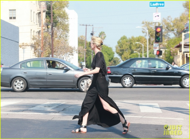 Exclusive... Charlize Theron Lunches At Sugarfish