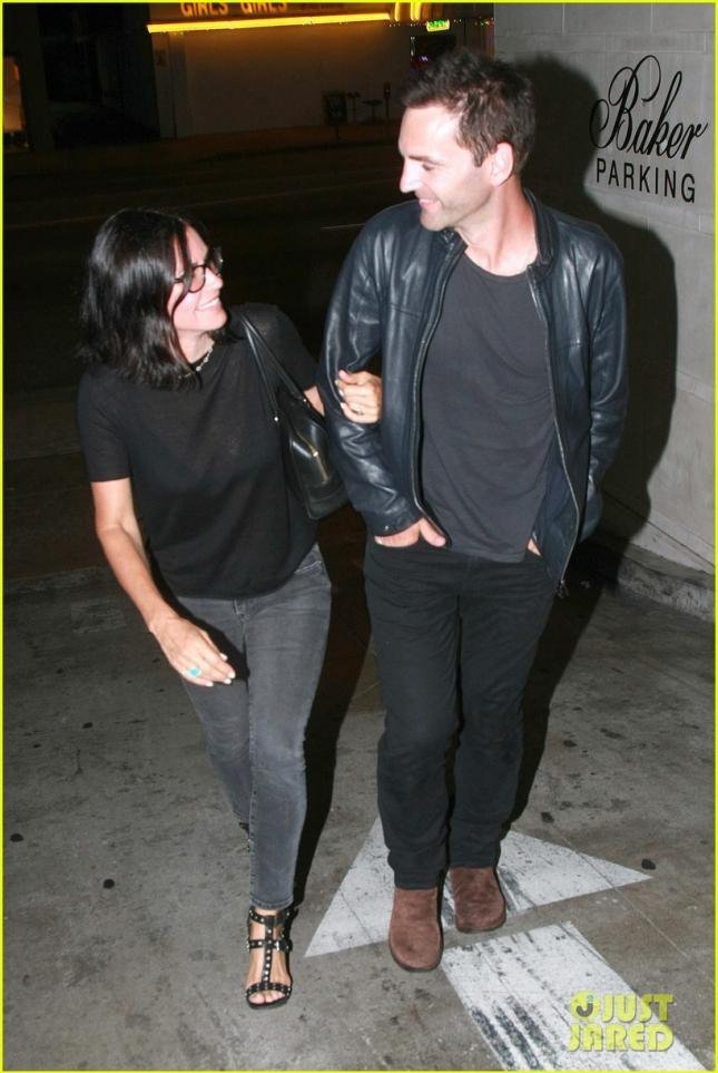 *EXCLUSIVE* Courteney Cox and Johnny McDaid show their support for Gary Lightbody