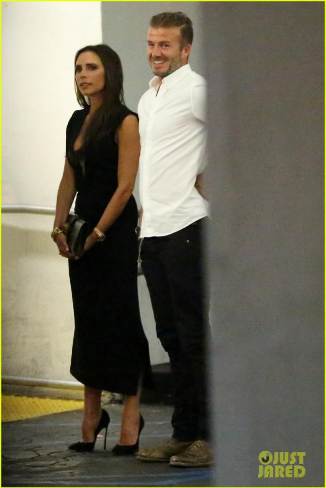 *EXCLUSIVE* David and Victoria Beckham double date at E Baldi