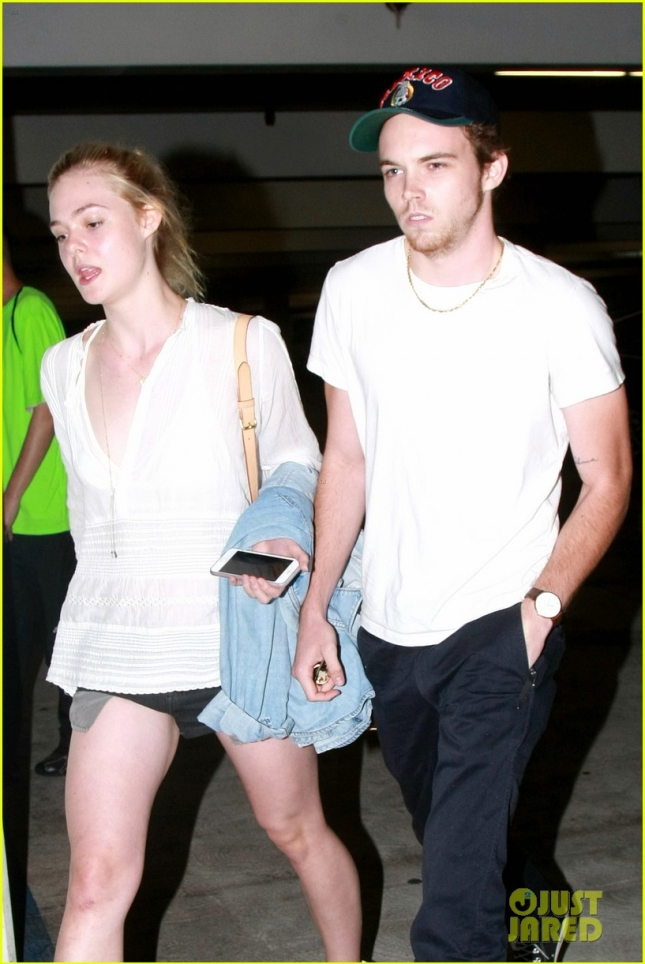 *EXCLUSIVE* Elle Fanning and Zalman Band couple up for a movie date night