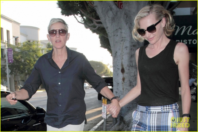*EXCLUSIVE* Ellen DeGeneres and Portia de Rossi still in love on a date night at Madeo **USA ONLY**
