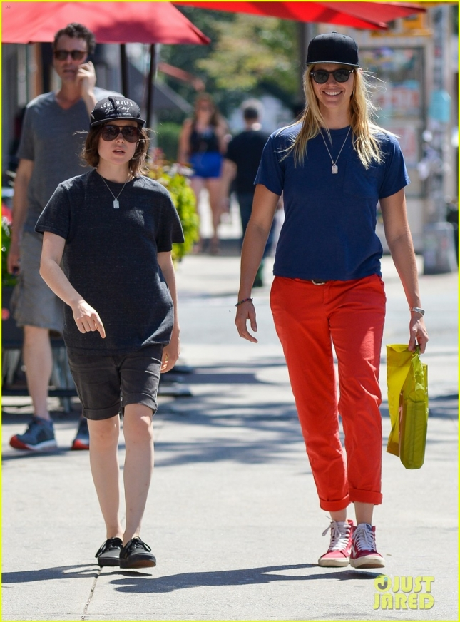 Tomboy Ellen Page takes a stroll with girlfriend Samantha Thomas