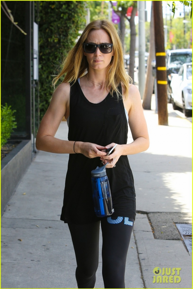 Emily Blunt heads to her daily workout at Rise Movement