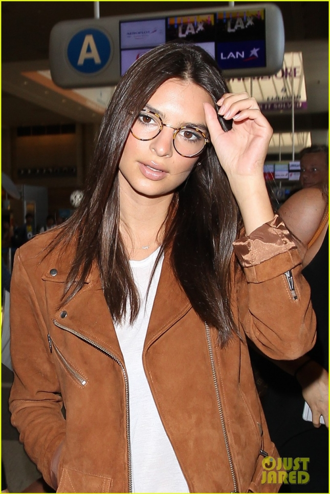 Emily Ratajkowski at LAX Airport
