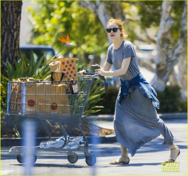 *EXCLUSIVE* Emma Stone shops with a friend at Pavilions