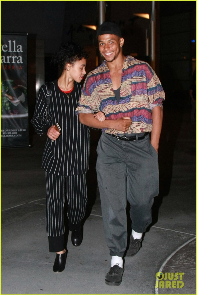 *EXCLUSIVE* FKA Twigs heads to the movies sans fiance Robert Pattinson