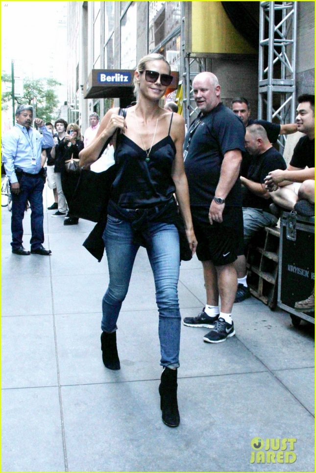 Heidi Klum still turning heads in NYC