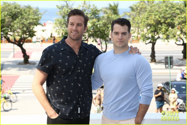 "Armie Hammer and Henry Cavill ham it up for ""The Man from U.N.C.L.E."" photocall in Rio"