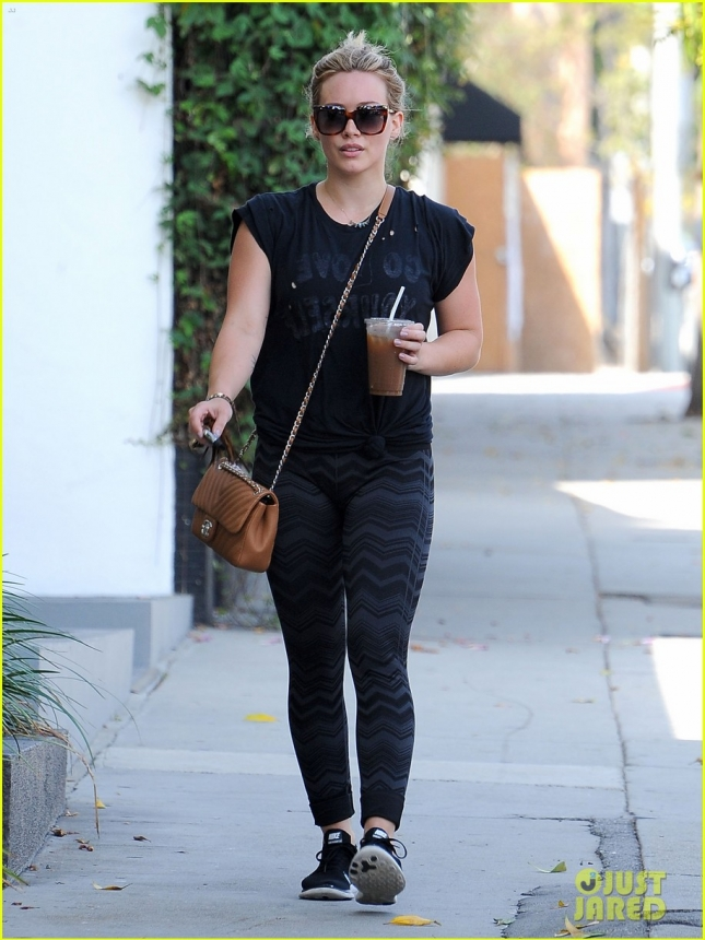 Hilary Duff Hits The Gym