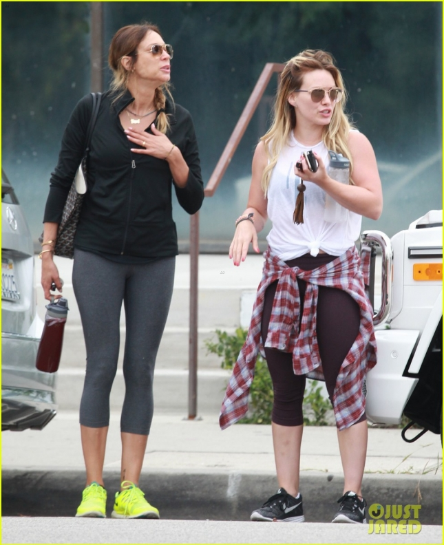 Hilary Duff heads to a gym in West Hollywood