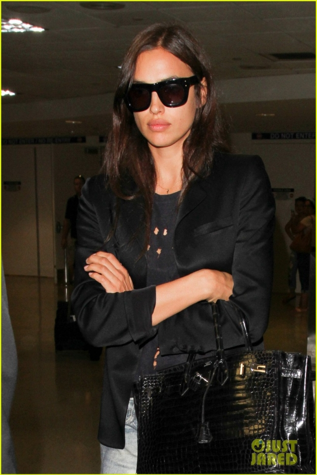 Irina Shayk Arrives at LAX Airport