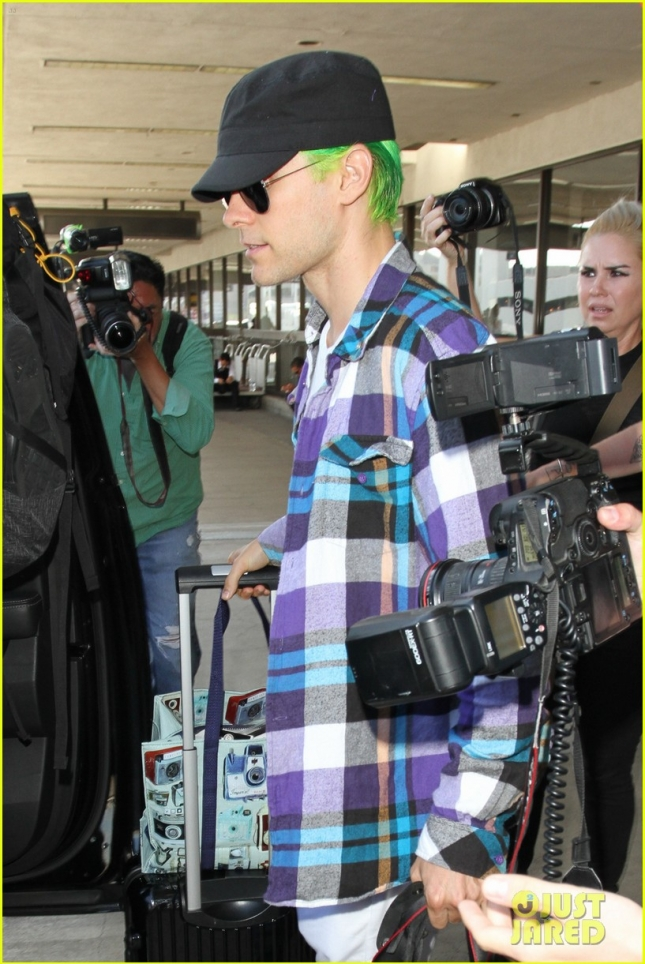 Jared Leto Arrives at LAX Airport