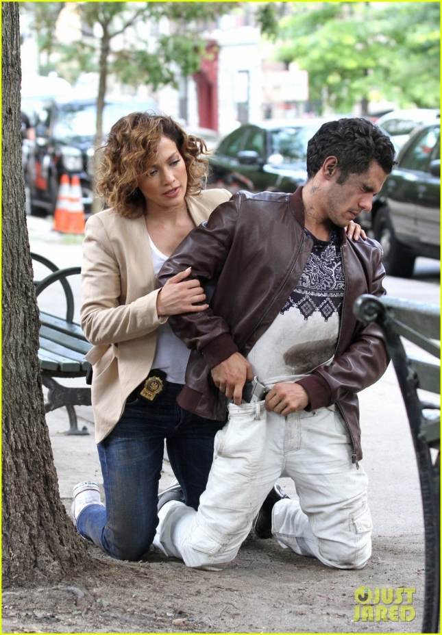 Jennifer Lopez makes an arrest for 'Shades of Blue' **USA ONLY**