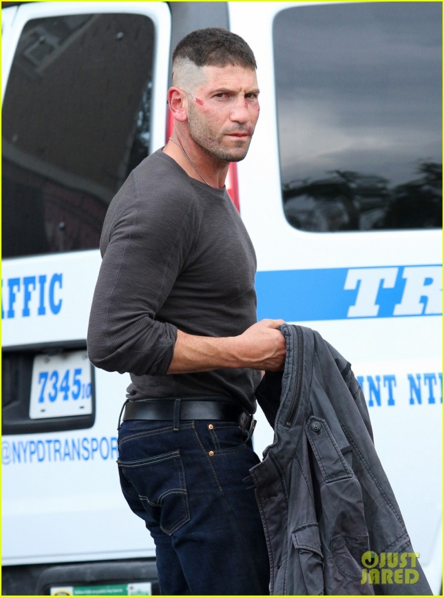 Jon Bernthal is bruised and bloodied on-set of 'Daredevil' **USA ONLY**