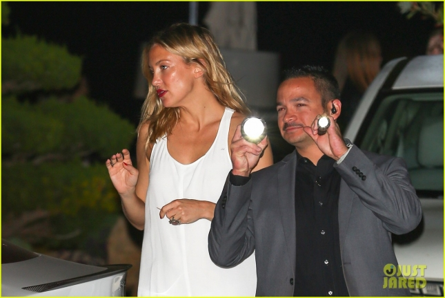 Kate Hudson grabs a summer dinner at Nobu with her little man