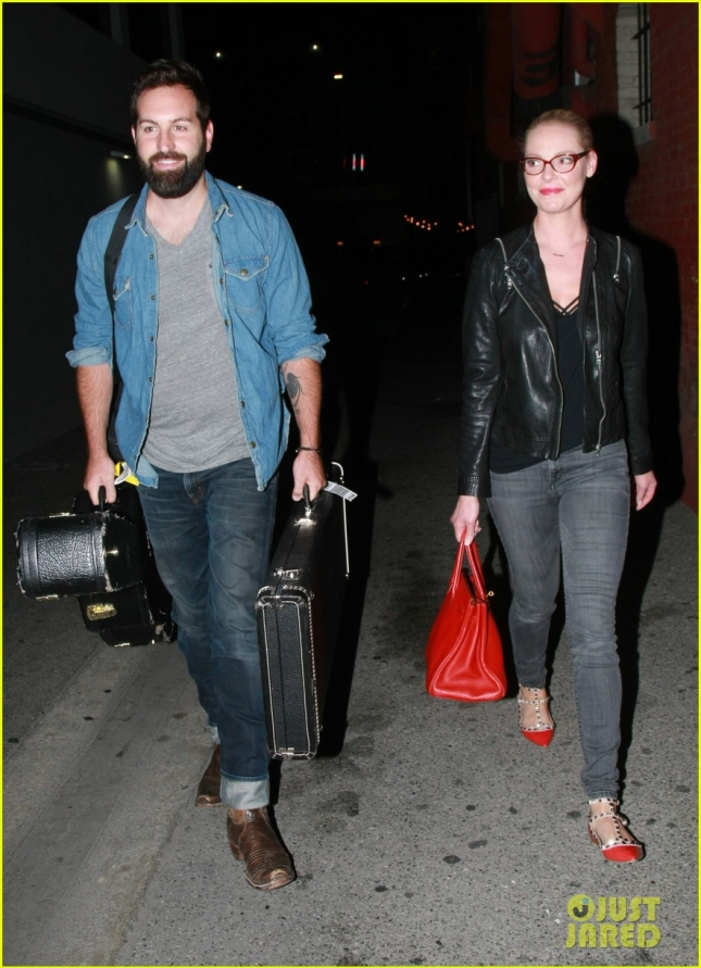 *EXCLUSIVE* Katherine Heigl accompanies husband Josh Kelley to Hotel Cafe
