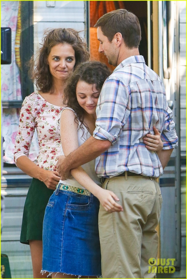 """Katie Holmes and Luke Wilson share a sweet moment on screen for """"All We Had"""""""
