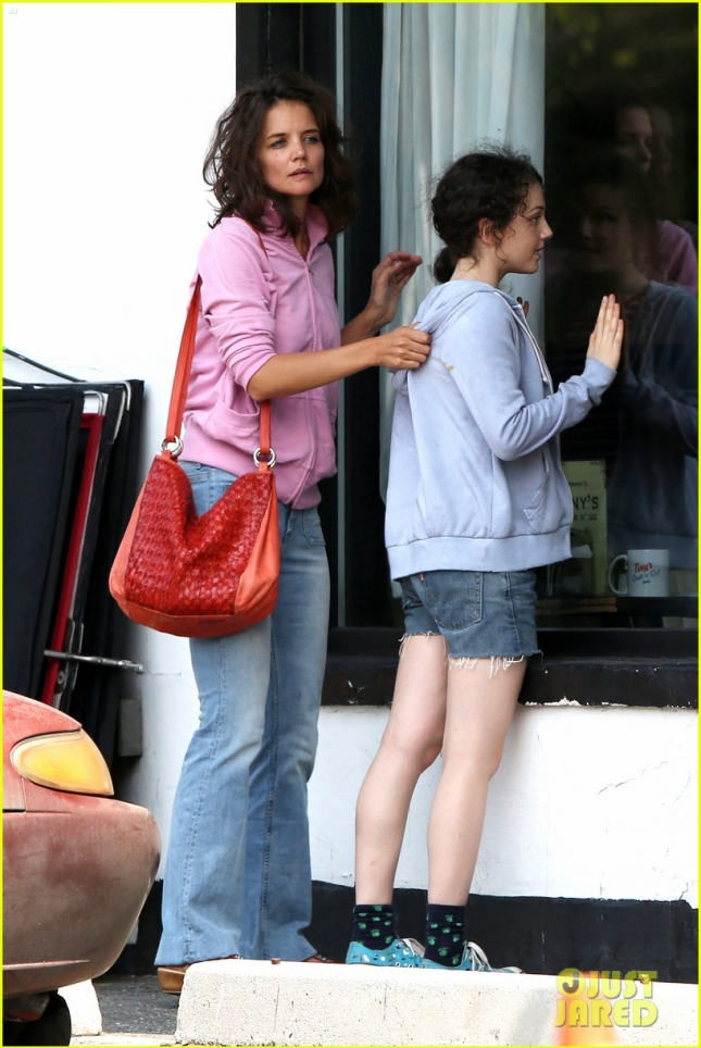 "Katie Holmes heads to the Diner with Stefania Owen for ""All We Had"""
