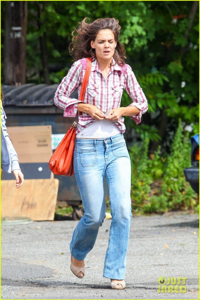 "The many faces of Katie Holmes on the set of ""All We Had"""