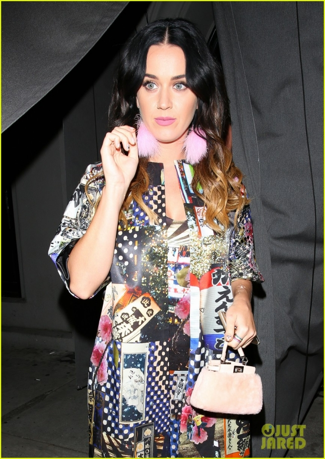 katy Perry looks glamourus leaving Craig's restaurant