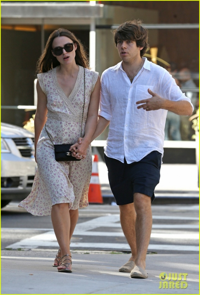 Keira Knightley and hubby James Righton have a chat as they walk