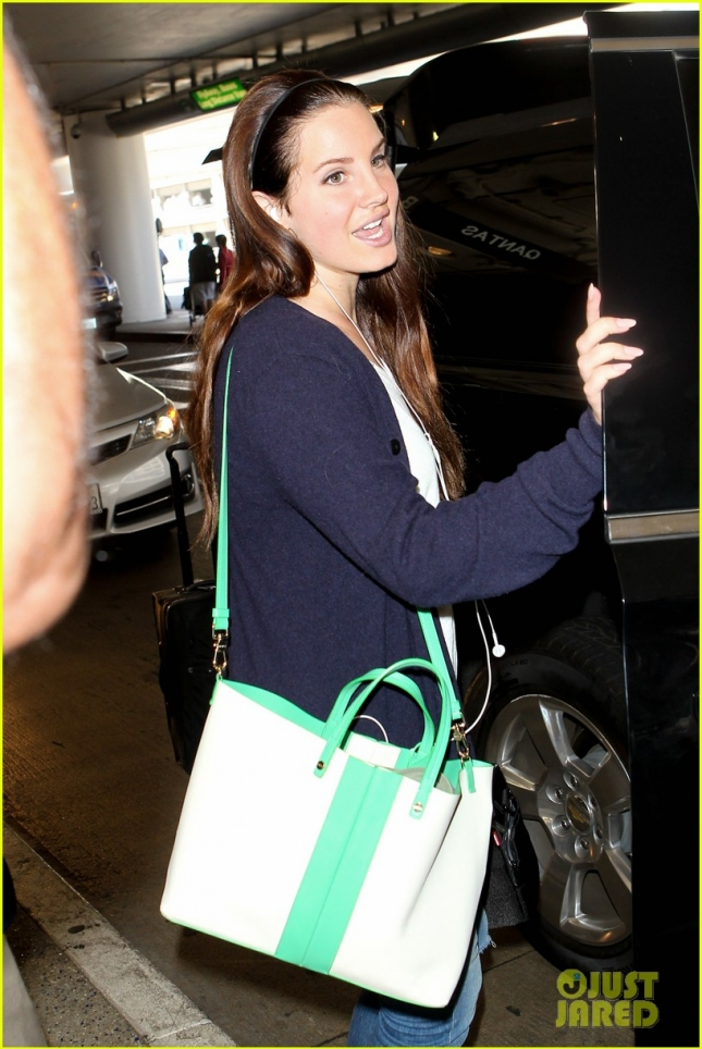 Lana Del Rey Arrives at LAX Airport